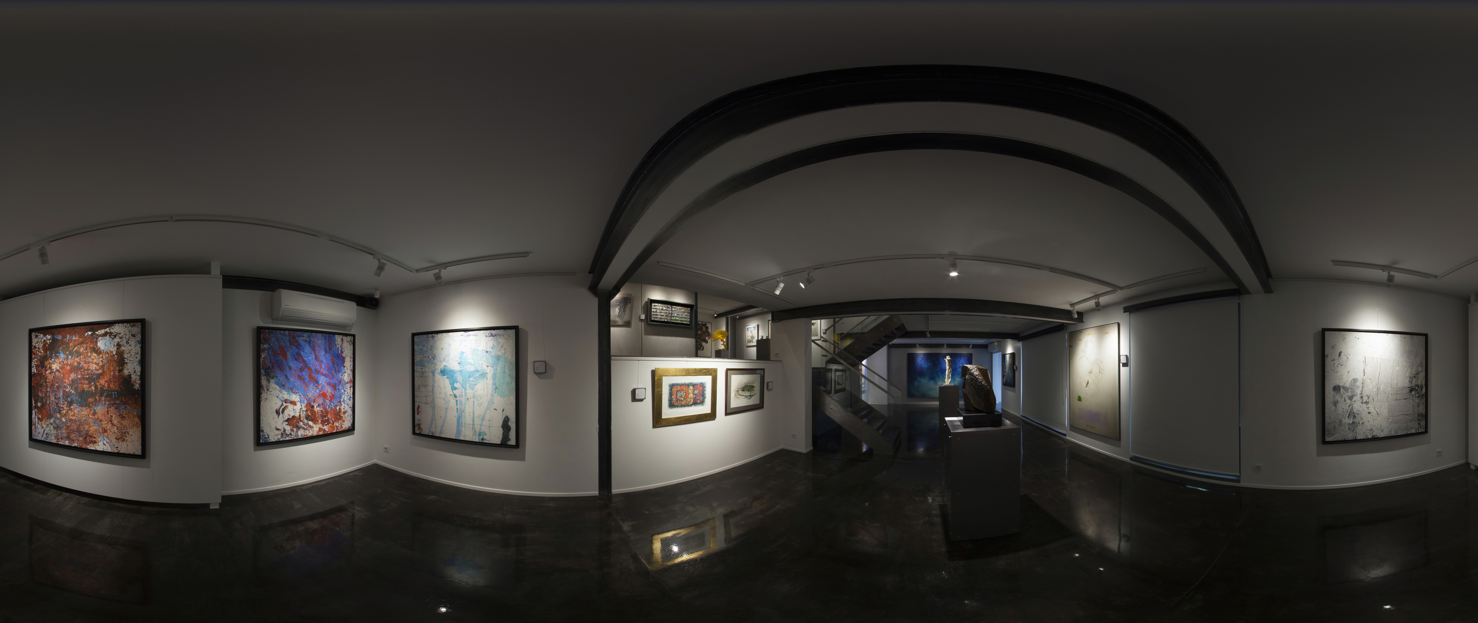E1 Art Gallery-Group Exhibition By Iranian  Masters-(4)