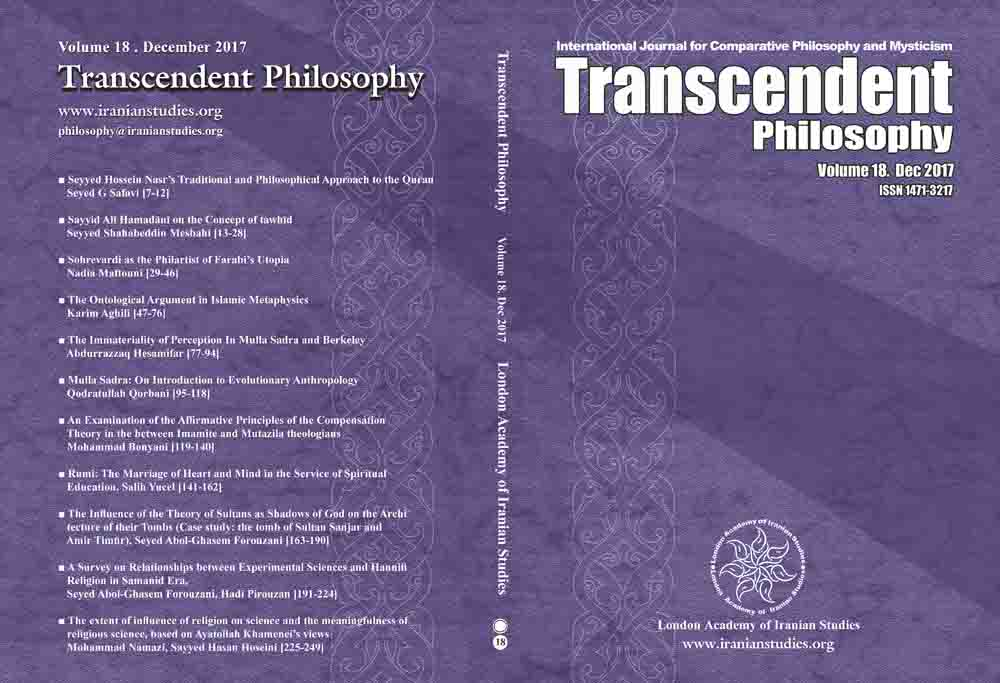 Transcendent Philosophy Journal Volume 18 - Number 29 - December 2017